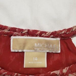 Michael Kors Tops - Red and cream chiffon top